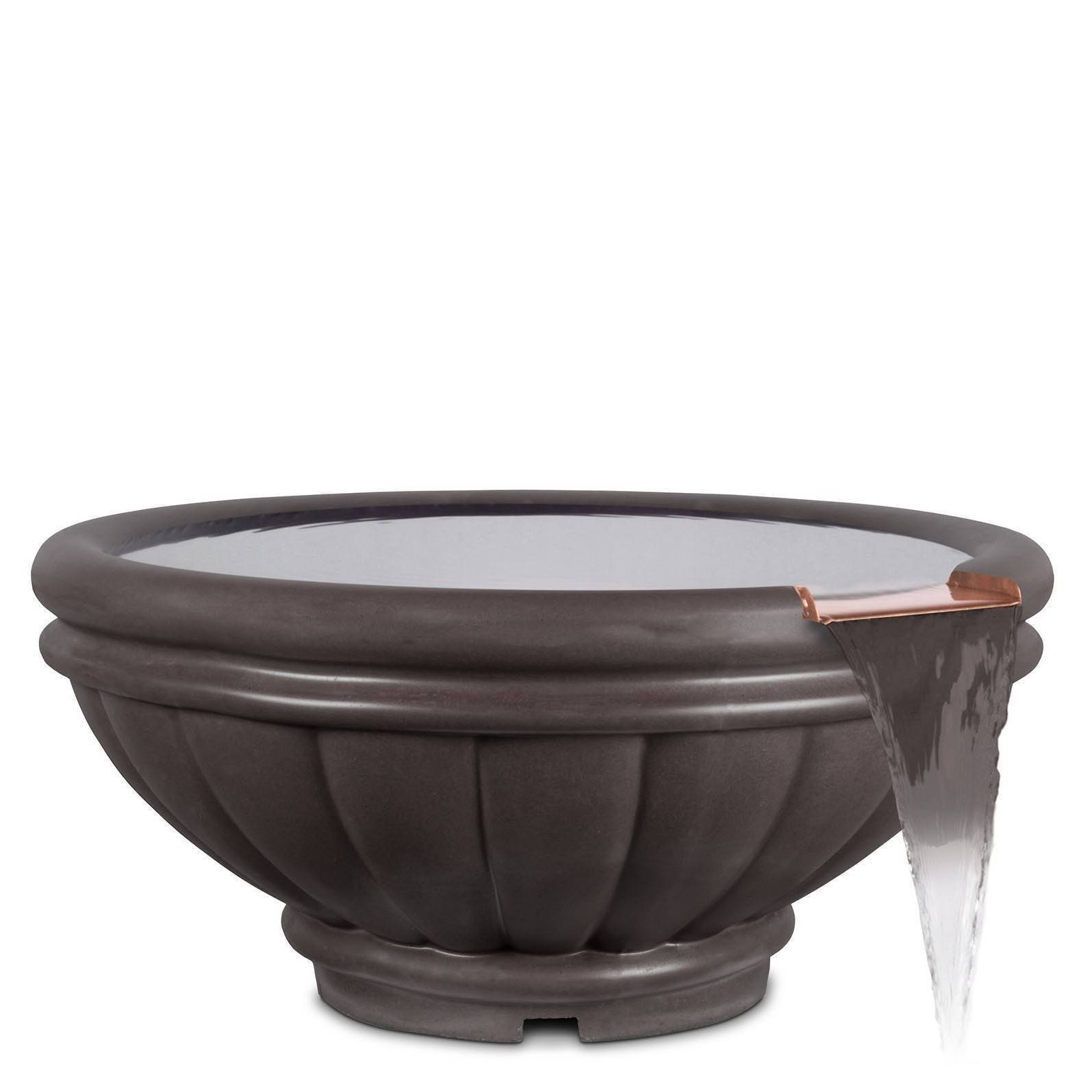 "37"" Roma Pool Water Bowl - Chestnut"