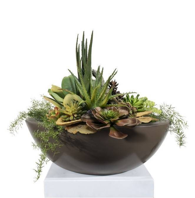 "27"" Sedona Planter Bowl - Chocolate"