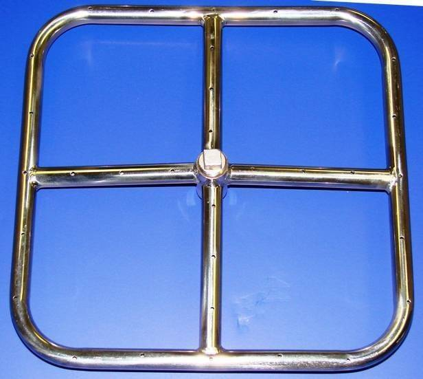 Gas Fire Ring Square 12'' NG