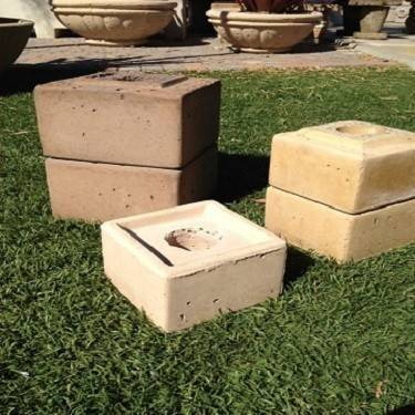 "Concrete Pedestal for Square Bowls | 18"" - 48"" 