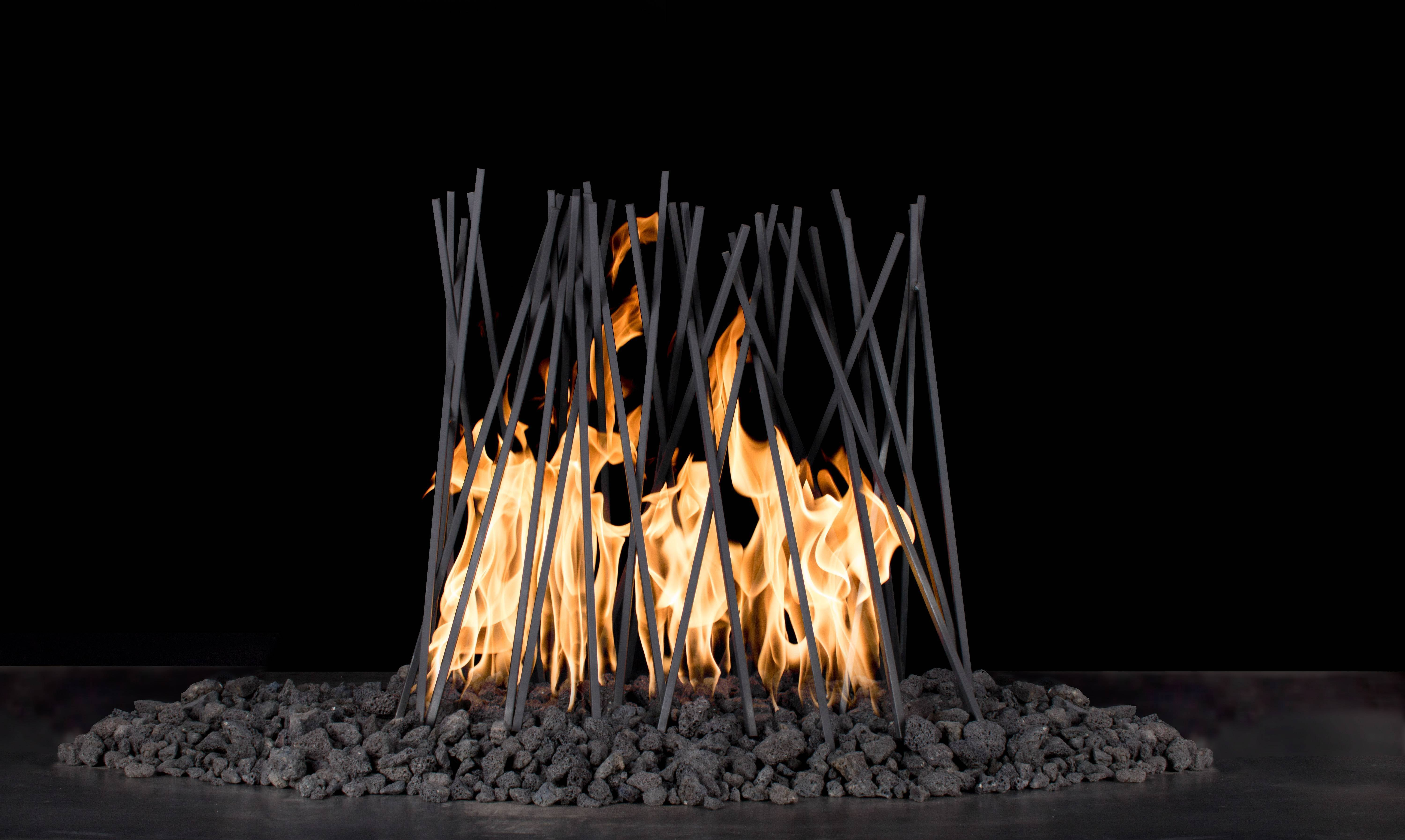 "Milled 1/4"" Steel Fire Twigs - Sets Over Existing Burner 