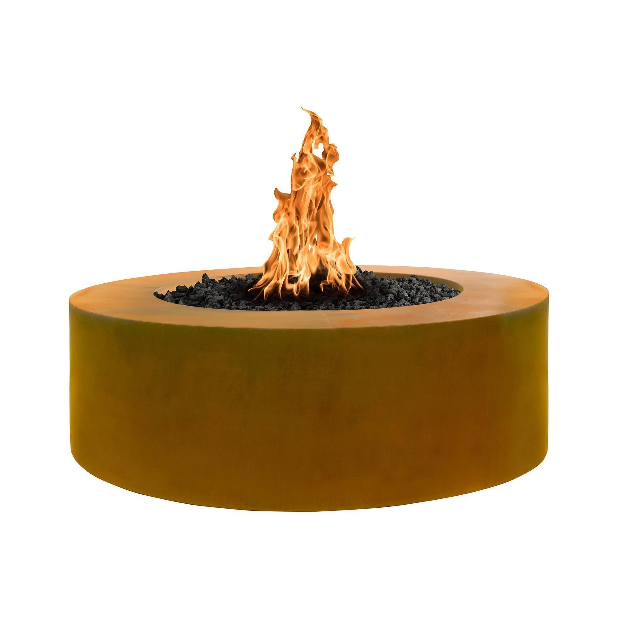 """60"""" Unity Corten Steel Fire Pit Table"""