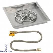 "18"" Drop in Burner Pan. Square. Match Light"