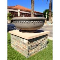 Concrete Fire Bowl Roman Black Wash