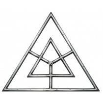 """18"""" Triangle Gas Fire Ring"""