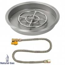 "25"" Drop in Burner Pan. Round. Match Lite"