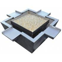 "30"" x 30"" Stainless Steel Fire & Water Bowl w/ 4 Scuppers"