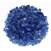 """1/2"""" Cobalt Blue Reflective Fire Glass"""