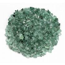 "1/2"" Green Reflective Fire Glass"