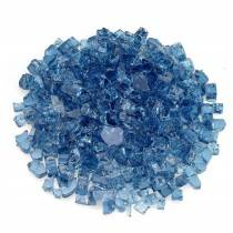 "1/2"" Pacific Blue Fire Glass"