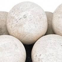 "Cottage White Lite Stone Ball Set 4"" Uniformed Sets 