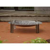 Alna Wood Fire Pit - Stainless Steel