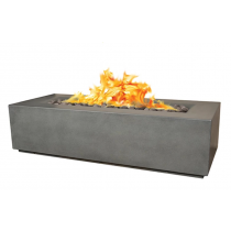 "78"" x 32"" x 20"" Aspen GFRC Concrete Fire Table - Rain Cloud"