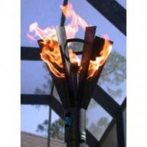 Gas Tiki Torch Automated Remote Controlled Fin Style