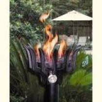 Gas Tiki Torch Automated Remote Controlled Malama Style