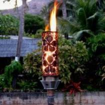 Gas Tiki Torch Autometed Remote Controlled Flower Design