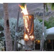 Gas Tiki Torch Automated Remote Controlled Bird of Paradise Design