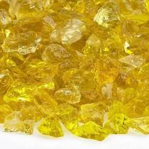 Yellow Fire Pit Glass