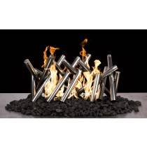 Polished Logs - Stainless Steel - Sets Over Existing Burner | Starting at $925