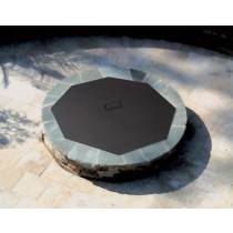 Octagon Fire Pit Cover Snuffer on Fire Pit