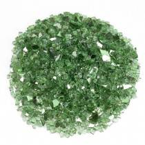 "1/4"" Green Reflective Fire Glass Top"