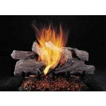 Ceramic Log Set Evening Camp Fire 24''