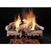 Ceramic Log Set Evening Cross Fire 20''