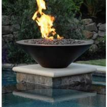 "31"" Essex Concrete Fire Bowl - Dark Walnut"