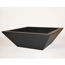 "30"" Kona Modern Square Planter - Dark Walnut"