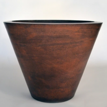 "24"" Geo Planter Bowl - Burnt Terra Cotta"