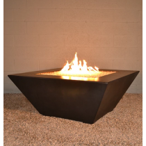"42"" x 42"" Kona GFRC Concrete Fire Table - Dark Walnut"