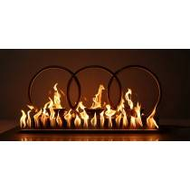 Treble Fire Rings - Stainless Steel - Includes Burner | Starting at $1,075