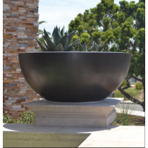 "60"" Luxe Low Planter Bowl - Dark Walnut"