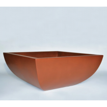 "30"" x 30"" Legacy Square Concrete Planter Bowl - Sequoia"