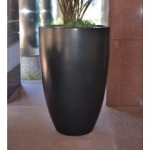 Luxe Tall Planter Bowl - Dark Walnut