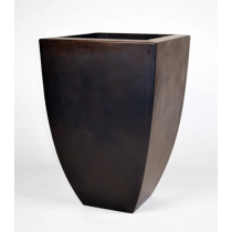 "24"" Legacy Tall Square Concrete Urn Planter - Dark Walnut"