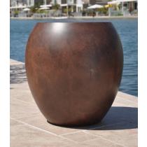 """36"""" Luxe Urn Planter Bowl - Burnt Terra Cotta"""