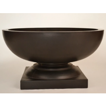 Lyon Concrete Fire Bowl - Dark Walnut