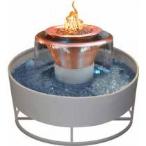 "36"" Olympian 4-Way Fire & Water Bowl - With 60"" Self Contained Unit"