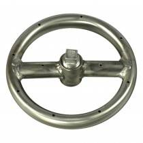 "8"" Stainless Steel Round Gas Fire Ring"