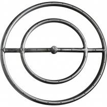 "18"" Stainless Steel Round Gas Fire Ring"