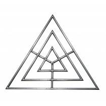 """48"""" Triangle Gas Fire Ring"""