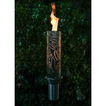 Etched Top Torch - Gas Tiki Torch
