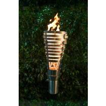 Woven Top Torch - Gas Tiki Torch