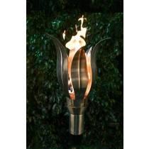 Lotus Top Torch - Gas Tiki Torch