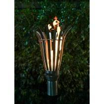 Modern Top Torch - Gas Tiki Torch