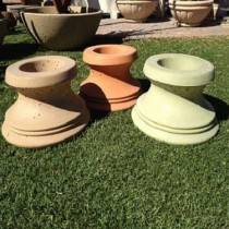 "Concrete Pedestal Round for 21""-48"" Bowls 