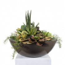 "27"" Sedona Planter Bowl - Chocolate"