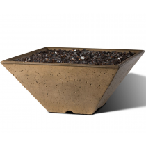 "Slick Rock Concrete 22"" x 22"" Conical Fire Bowl - Umber"