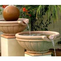 Pool Fire Bowl Concrete Tuscany with Scupper 24""